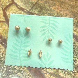 NWOT bp Assorted Gold Stud Earring Set